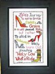 09-2029 Life's Journey Stitch count 144 X 84. Bobbie G Designs