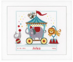 PNV149753 Vervaco Kit Circus II - Birth Announcement