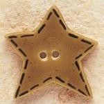 "43015 Debbi Mumm Brown Gold Star Quilt Stitched; 1"" x 1""     2 Pieces"