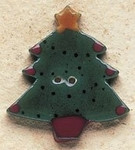 "43017 Debbi Mumm Christmas Tree; 1 1/8"" x 1 1/4""     2 Pieces"