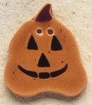 "43057  Debbi Mumm Button Jack O' Lantern; 1"" x 1 1/8""    2 Pieces"