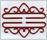 "83225 Lene Boje Bellpull Wrought Iron; Red Finish; 25cm (9-7/8"")"