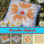 Brodeuse Bressane BB-PE Pincushion Elephants With Silk Pack