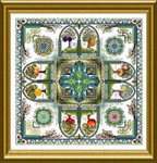 Dinky-Dyes Châtelaine Designs CHAT121 The Medieval Fruit Garden Mandala (Pomarium)
