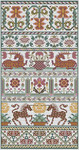 LD82 Dankworth Stitch Count: 125 x 254 Long Dog Samplers