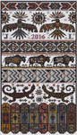 LD81 Band of Braves Stitch Count: 154 x 31 Long Dog Samplers