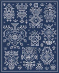 LD77 Sacre Coeur Stitch Count: 163 x 207 Long Dog Samplers