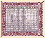 LD15 Times Table Long Dog Samplers