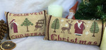 MDD-CP1 Christmas Pillows 1: Christmas & I Believe With Silk Pack Mani Di Donna