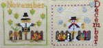 MDD-SCND A Year with the Scarecrows - November & December Includes 2 wooden buttons. Mani Di Donna