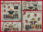 MDD-SCSO A Year with the Scarecrows - September & October Includes 2 wooden buttons Mani Di Donna