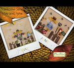 MDD-SCMJ A Year with the Scarecrows - May & June Includes 2 wooden buttons Mani Di Donna