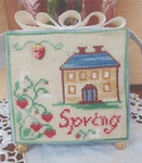 MDD-SS Spring Strawberry Stitch Count: 59x60 With Silk Pack Mani Di Donna