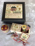 MDD-TSCSB The Sunflower Cottage Sewing Box Includes wooden buttons Mani Di Donna