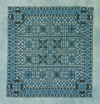 Northern Expressions NE049 Shades of Turquoise Stitch Count: 249 x 249 With Silk Pack