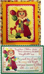 TT-CAL Calico Clown Calico Clown Birth Sampler and Bonus Specialty Stitch version are two charts in the same chart pack Tempting Tangles