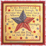 TT-BL Blessed Land Stitch Count: 141 x 141 Tempting Tangles With Silk Pack