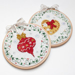 FRD-BHCH Bauble & Heart Christmas Hoops Faby Reilly Designs