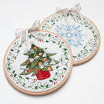 FRD-TFCH Tree & Flake Christmas Hoops Faby Reilly Designs