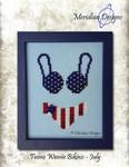 MD-TWBJUL Teenie Weenie Bikinis - July (chart & charm) Meridian Designs