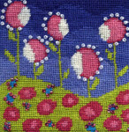 Mary Self Needlepoint Kit Field of Flowers