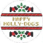 "PP-300AE ""Happy Holly Dogs"" Painted Pony Designs 4"" round"