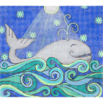 AP3687 Whale Alice Peterson 13 Mesh 10 x 9  !