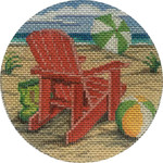 APX276 Red Beach Chair Alice Peterson 4″ ROUND 18 Mesh  !