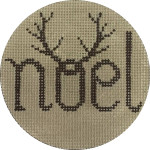 APX272 Noel Antlers Alice Peterson 4″ ROUND 13 Mesh  !
