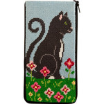 APSZ495 Purrfect Cat Alice Peterson Stitch And Zip EYEGLASS CASE