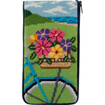 APSZ493 Springtime Ride Alice Peterson Stitch And Zip EYEGLASS CASE