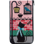 APSZ489 Kitty Kat Alice Peterson Stitch And Zip EYEGLASS CASE
