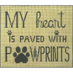 AP2754 Heart and Paw Print Alice Peterson 13 Mesh Design Size 10.5 x 8.75 !