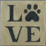 AP2753 Puppy Love Print Alice Peterson 13 Mesh Design Size 7.5 x 7.5 !