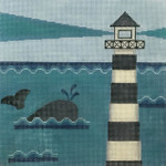 AP2761 Whale and Lighthouse Alice Peterson 13 Mesh Design Size 10 x 10 !