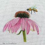 Bee on Coneflower Unique New Zealand Designs