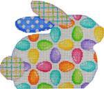 BR-804 Egg Repeat Bunny 6.5x5.5 18  Mesh Associated Talents