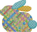 BR-803 Diagonal Woven Ribbon Bunny 6.5x5.5 18  Mesh Associated Talents