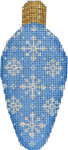 CT-1961 Snowflakes on Blue Light Bulb 2.25x4.75 18 Mesh Associated Talents