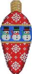 CT-1960 Snowmen/Flakes Light Bulb 2.25x4.75 18 Mesh Associated Talents