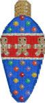 CT-1959 Gingerbread Boy/Candies Light Bulb 2.25x4.75 18 Mesh Associated Talents