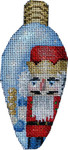 CT-1957 Nutcracker King Christmas Light Bulb 2.25x4.75 18 Mesh Associated Talents
