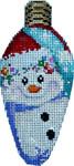 CT-1956 Snowman/Cap Christmas Light Bulb 2.25x4.75 18 Mesh Associated Talents