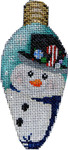 CT-1955 Snowman Top Hat Christmas Light Bulb 2.25x4.75 18 Mesh Associated Talents