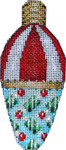 CT-1954 Red/White/Candy Christmas Light Bulb 2.25x4.75 18 Mesh Associated Talents