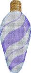 CT-1951U Purple Peppermint Swirl Light Bulb 2.25x4.75 18 Mesh Associated Talents