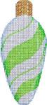 CT-1951L Lime Peppermint Swirl Light Bulb 2.25x4.75 18 Mesh Associated Talents
