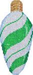 CT-1951G Green Peppermint Swirl Light Bulb 2.25x4.75 18 Mesh Associated Talents