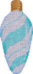 CT-1951A Aqua Peppermint Swirl Light Bulb 2.25x4.75 18 Mesh Associated Talents