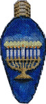 EE-992 Menorah Hanukkah Light Bulb 2.25x4.75 18 MESH Associated Talents